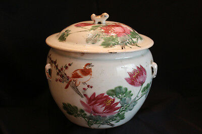 Guangxu Qianjiang ? Chinese Porridge Jar with Lid