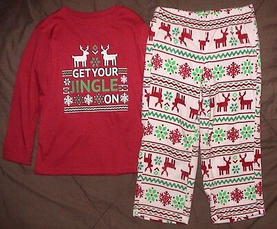 Get Your Jingle On-2 Piece Pajama Set-Jammies For Your Families-Boys Size 4-Nwt