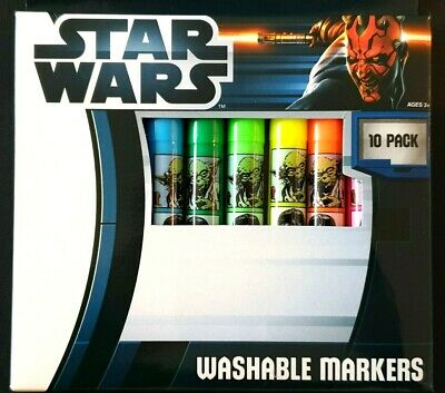 Star Wars Washable Markers / Texta 10 Pack (NEW) Ages 3+