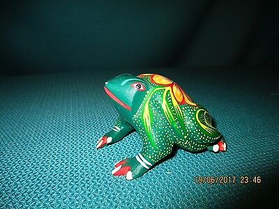 Hand Painted Mexican Frog