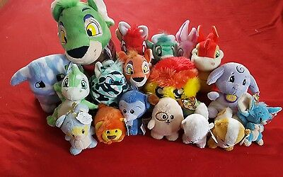Neopets Plushies Lot of 18 Petpets Jumbo New with Keyquest Tags