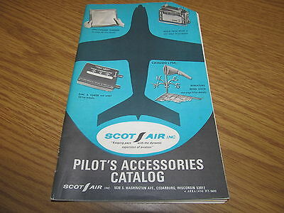 Vintage 1960 Pilots Accessories Catalog from Scot Air