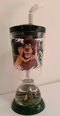 Disney's The Jungle Book Vintage Rare Collectible Floating Drinking Cup W/ Straw