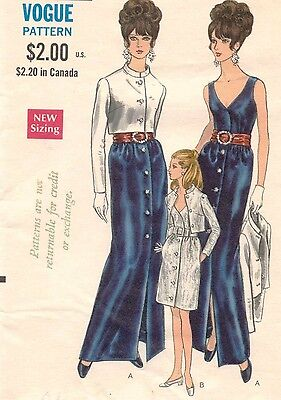 1960's VTG VOGUE Formal Evening  Dress and Jacket  Pattern 7456 Size 14