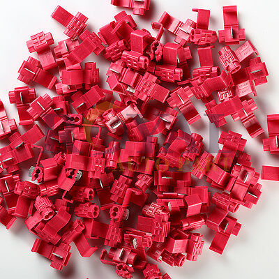 (100) Red Scotch Lock Quick Splice 22-18 AWG Wire Connector