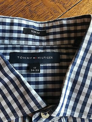 TOMMY HILFIGER Men's Slim Fit Dress Shirt 17 34/35