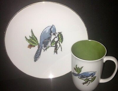 Neiman-Marcus, Fitz & Floyd Bird Plate And Cup