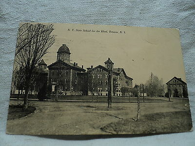 BATAVIA NY New York State School for the Blind 1908 Postcard