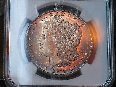 1879 S Morgan Silver Dollar - NGC MS 65, Monster Rainbow Toning Obverse 2869