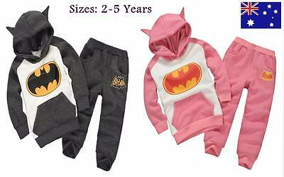 Girl Boy Winter Thick Batman hoodies Pullover Tracksuit Jumper  Size 2,3,4,5