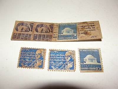 Stamp booklet with used stamps