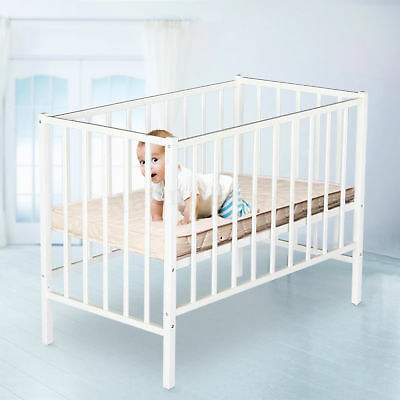 TikkTokk Little Boss Wooden Baby Cot Including Mattress - White CLEARANCE