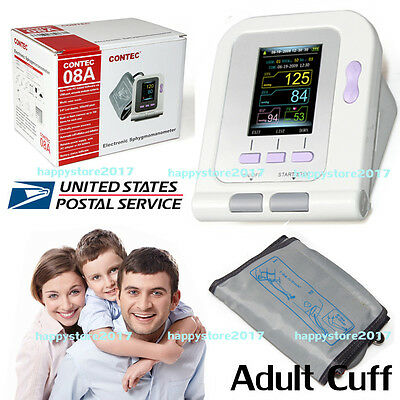 US Seller Digital Automatic Blood Pressure Monitor, Adult Cuff+USB PC Software