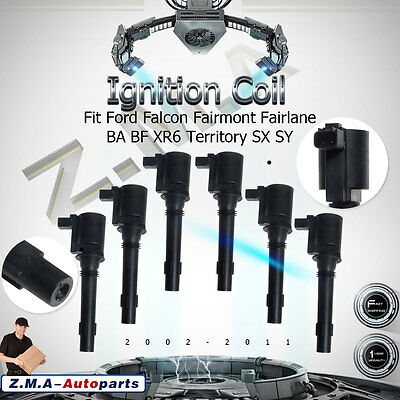6x Ignition Coil for Ford Falcon Fairmont Fairlane BA BF XR6 Territory SX SY