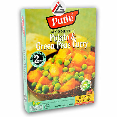 Pattu - Aloo Mutter (Potatoes & Green Peas Curry) Ready To Serve -  6x285 gm