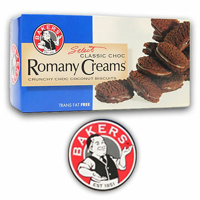 Bakers - Romany Creams Classic Crunchy Choc Coconut Biscuits - 200 gm