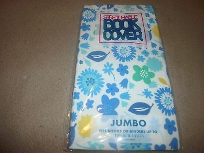 Jumbo Flower Book Cover Stretchable Fabric Sox sock School College Student (B49)