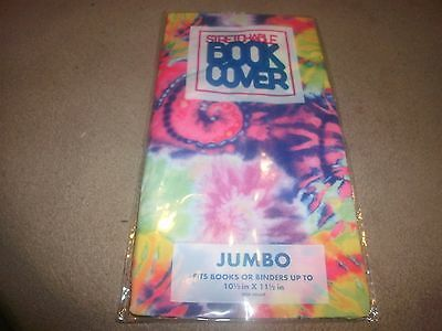 NEW Jumbo Tye Dye Book Cover Stretchable Fabric Sox sock School College Student