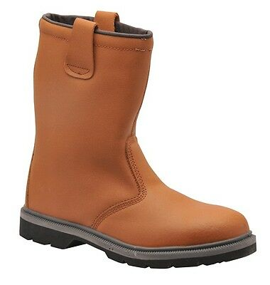 Portwest FW12TAR42 Tan Steelite Rigger Boot - UK Size 8, EU Size 42 New