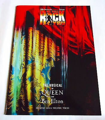 WE WILL ROCK YOU MUSICAL PROGRAM BOOK JAPAN 2005 Queen Ben Elton Souvenir