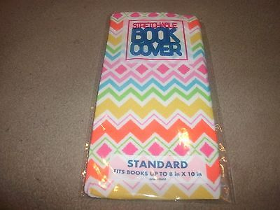 NEW Standard Chevrons Book Cover Stretchable Fabric Sox sock School College