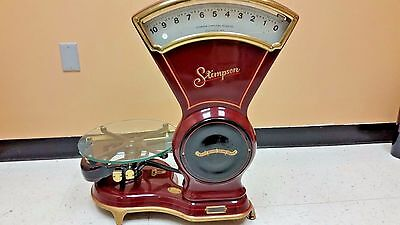 Scale Stimpson Vintage 10lb merchantile Scale early 1900's antique