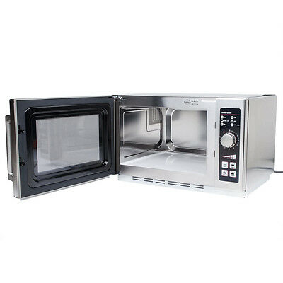 NEW! Amana Commercial Stainless Steel Microwave Medium Volume 1000W RCS10DSE