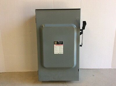 Square D 200 Amp 240VAC Single Throw Safety Switch 3P, D324NRB - Repaired Door!