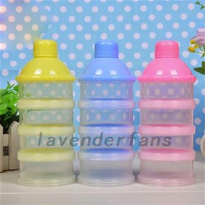 4 Layers Infant Baby Milk Powder Feeding Dispenser Storage Case Travel