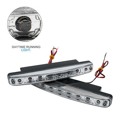 2X Auto-Tagespositionslampe 8 LED Tagfahrlicht DRL Weiße 12VDC Hauptlampe