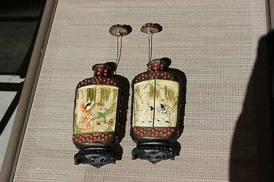 2 Large Chineese Snuff Bottles  Ivory And Coral