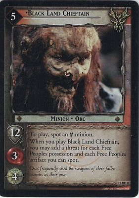 LOTR CCG The Hunters Foil 15RF11 Black Land Chieftain