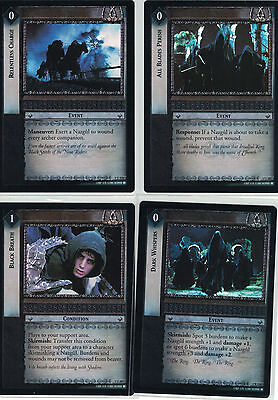 Lord of the Rings CCG Fellowship Foil  U223+U203+U207+R210