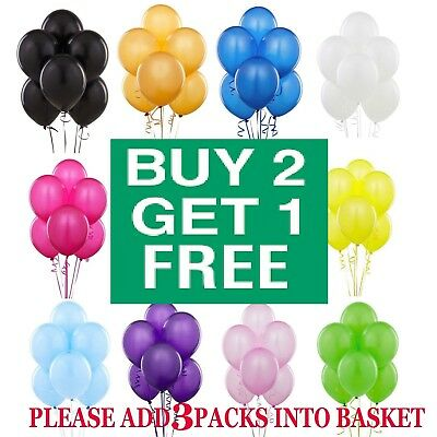 Latex PLAIN BALOONS BALLONS helium BALLOONS Quality Party Birthday Wedding 10PCS
