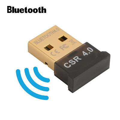 USB Bluetooth v4.0 Adapter Dongle CSR EDR for PC Laptop Windows 10 8 7 XP AC827