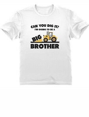 Big Brother Gift for Tractor bulldozer Loving Boy Toddler Infant Kids T-Shirt 3T
