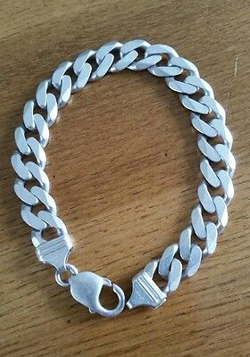 ☆ 925 Sterling Silver - 8.5 inch Mens Curb Chain Bracelet ☆