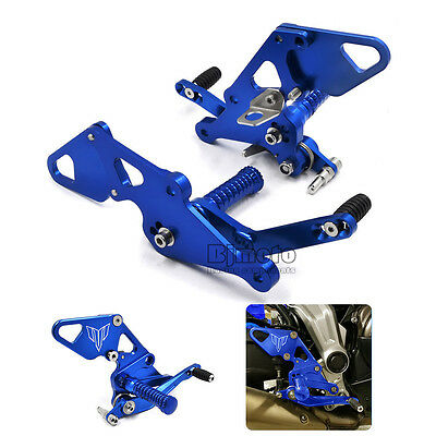 Adjustable CNC Rear Sets Footpegs Rearsets For Yamaha MT07 13-16 FZ07 15-16 Blue