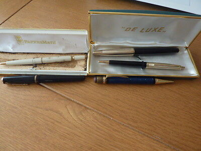 Vintage Collection Of Fountain ~ Ballpoint & Propelling Pencil ~  Parker ~ Paper
