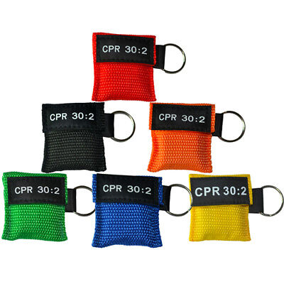 Elysaid CPR Face Mask Keychain Face Shield CPR/AED First Aid Training 30:2 New