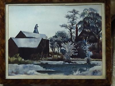 Old Watercolour Painting Signed J R Grow,