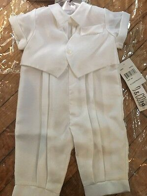 Baby Boy Christening Outfit - 6 Months