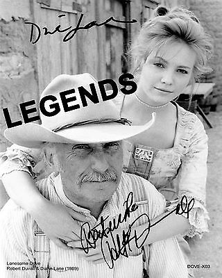 LONESOME DOVE  Robert Duval & Diane Lane Autographed Copy B & W  8x10 DOVE-X03