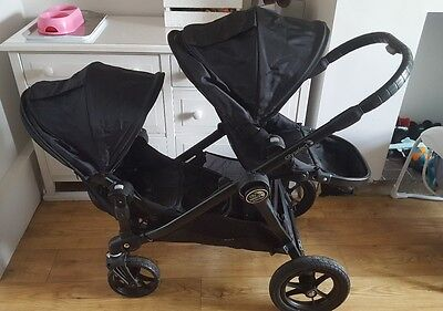 Baby jogger city select double /single buggy black frame