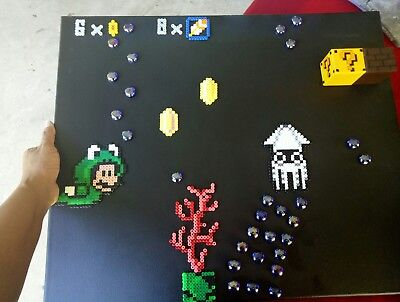 SUPER MARIO BROS - 8-bit Pixel Fan Art Canvas