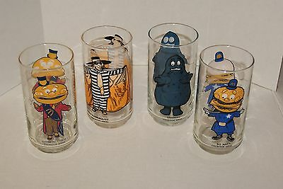 Vintage McDonald's Glasses - 1970's Collector Series-Character Promo - Set of 4