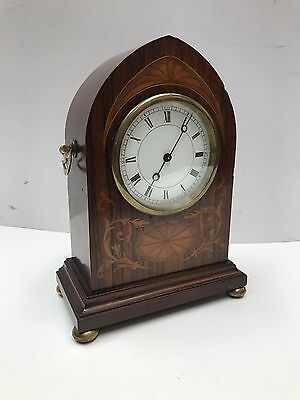 Inlaid Mahogany Edwardian Clock. Open To Offers.