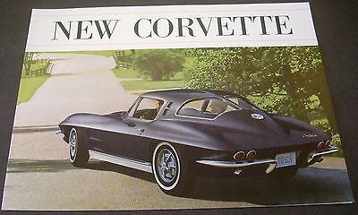 Original Chevrolet 1963 Corvette Sales Brochure Black Car Sting Ray Convertible