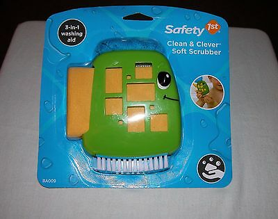 Safety 1st Clean & Clever Soft Scrubber (3) Pc. Set New