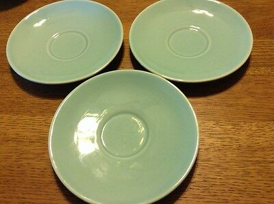"""Vintage TST LURAY PASTELS Light Blue 6"""" SAUCER Cup Plate TAYLOR SMITH & T (3)"""